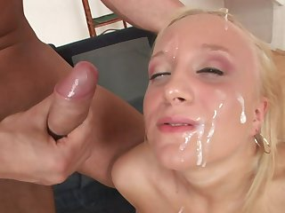 Redhead is ready to suck guys schlong all day long
