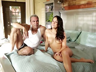 Brunette Carli Banks wants Evan Stone's meat stick to fuck her love hole hard