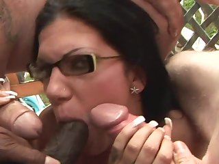 Teen bombshell is curious about oral sex with hard cocked dude