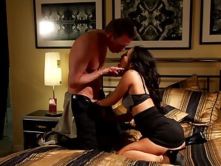 Mark Wood has fantastic oral sex with Brunette Asa Akira with giant melons