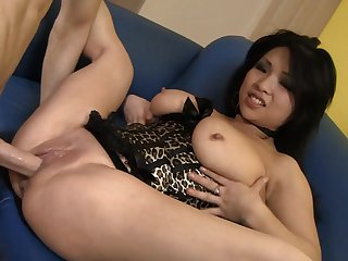 Brunette exotic Mia Rider spends her sexual energy with hard love torpedo in her honeypot