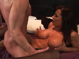 Milf Lisa Ann with massive boobs is ready to suck Joey Brass's rock solid rod day and night