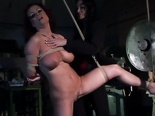 Teen Candy with juicy hooters and Bianca Lovely are two dykes that can't keep their hands off each other