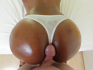 Incredibly sexy ebony minx learns more about interracial hardcore sex from hard cocked fuck buddy