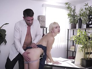 Blonde Tony Ribas gets her mouth destroyed by guy's love torpedo