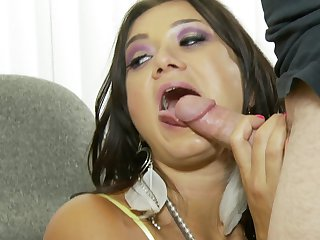 Brunette Cece Stone gets the fuck of her dreams with hard cocked dude