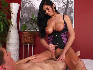 Brunette gal has the appetite for sex