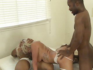 Adorably sexy seductress looks for a chance to get orgasm after hard love hole fucking with hot guy in interracial porn action