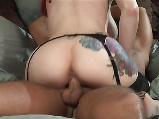 Rocco Reed is one hard-dicked dude who loves oral sex with Redhead Berlin with big knockers