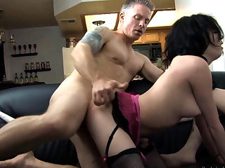 Brunette gets slam fucked literally to death