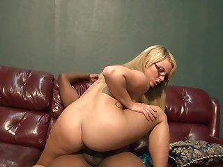 Blonde Casey Cumz satisfies mans sexual needs and then takes cumshot on her eager face