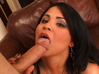 Brunette Sophia Lomeli with juicy breasts gets the pleasure from pussy fucking with horny guy like never before
