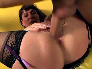 Brunette Alexandera Silk can't resist guy's hard dick