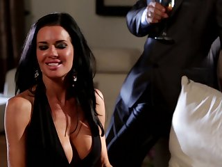 John Strong gets his always hard love wand sucked by Brunette Veronica Avluv with big tits