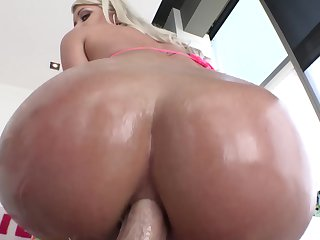 Juicy minx with huge knockers enjoys back porch fucking too much to stop