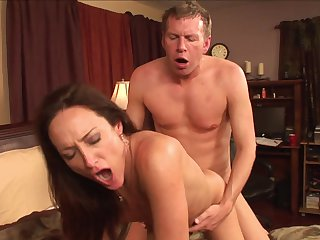 Mark Wood buries his stiff love wand in mouth-watering Michelle Lay's mouth