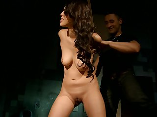Oriental Sharon Lee with massive breasts loves the way horny guy nails her vagina in interracial porn action