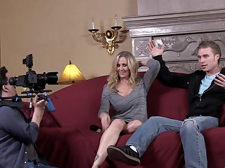 Blonde Julia Ann wants Michael Vegas insert his worm in her twat over and over again