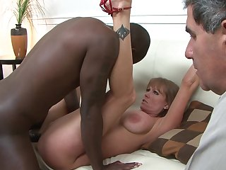Redhead harlot Julius Ceazher with big hooters loves intense dick sucking in steamy oral action with lucky guy
