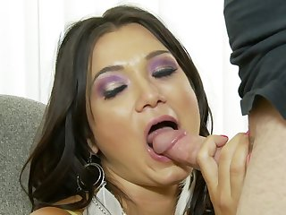 Brunette Cece Stone loves the way worm makes its way deep inside her wet pussy