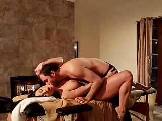 Brunette Kendra May Lust is hungry for man goo