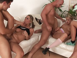 Blonde Christina Lee is out of control with sticky cum all over her face