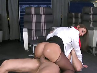 Ramon Nomar stretches sexy bodied Mischa Brooks's mouth with his hard meat pole to the limit
