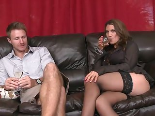 Levi Cash explores the depth of horny as hell Leena Sky's throat with his sausage