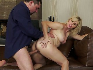 Blonde is never enough and takes dick in her many times used cunt again