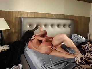 Brunette Veronica Avluv with giant melons getting face fucked by Evan Stone's sturdy fuck stick