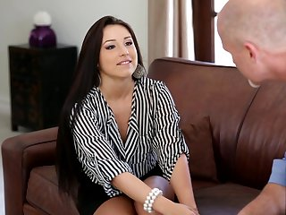 Mark Davis loves amazingly hot Lola Foxx's amazing body and bangs her mouth as hard as possible