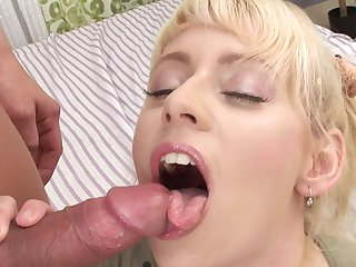 Blonde Jenna Lovely gets her vagina trained in interracial hardcore action
