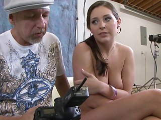Chris Charming touches the hottest parts of beautiful Gracie Glam's body before he fucks her mouth