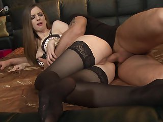 Stella Cox gets anal fucked in beautiful lingerie