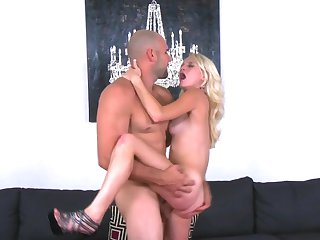 Cute blonde girl Stacey Kiss sucks and fucks
