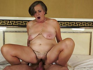Bushy granny Kata gets pounded hardcore