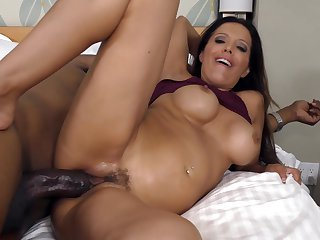 Latina Francesca Lle with huge melons looks for a chance to get orgasm after hard love box fucking with horny man in interracial hardcore action