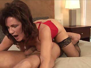 Brunette Deauxma with gigantic hooters and Mr Pete enjoy oral sex they will never forget
