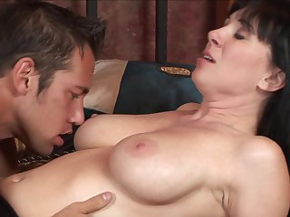 Brunette Rayveness just feels intense sexual desire and sucks Johnny Castles love stick like crazy