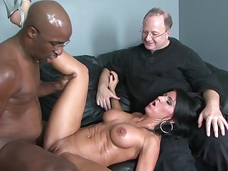 Brunette Kendra Secret with massive breasts makes man's interracial sexual fantasies cum true