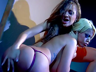 Blonde Bridgette B with big melons loves her sex partner in this hardcore action