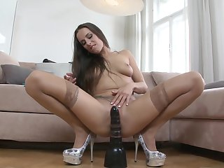 David Perry gets his always hard pole used by anal-loving Brunette Mea Melone before she takes it deep in her mouth