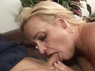 Blonde Dee Siren with big jugs opens her legs to take hard dick in her wet spot